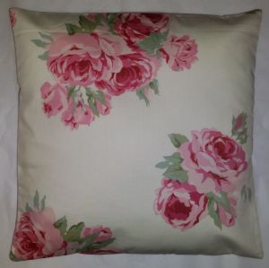 "Shabby Chic Cushion Cover in Laura Ashley Couture Rose  14"" 16"" 18"" 20"""